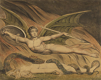 Satan Exulting over Eve, watercolor by William...