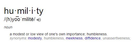 humility def