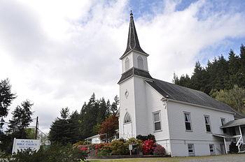 English: Olalla Bible Church, Olalla, Washington.
